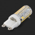 JRLED G9 4W 300lm 3300K 48-SMD 2835 LED Warm White Mini Bulb - White + Yellow (AC 220~240V)