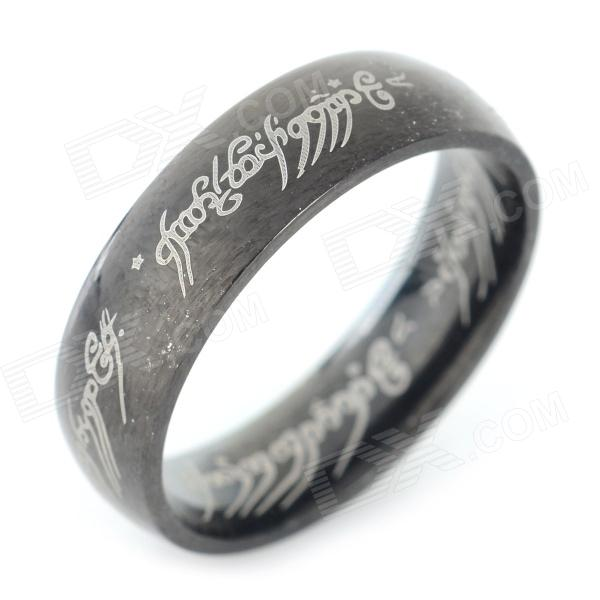 Fashion 316L Stainless Steel Ring - Black (U.S Size 9.5) ring to rule them all 316l stainless steel ring black size 11 5