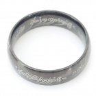 Fashion 316L Stainless Steel Ring - Black (U.S Size 9.5)
