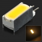 G4 2W 90lm 4000K 1-COB LED Warm White Light Lamp - White + Silvery Grey (DC 12V)
