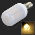 SENCART E14 4W 200lm 3000K 42-SMD 5730 LED Warm White Corn Lamp - White + Off-white (AC 85~265V)