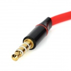 Universal 3.5mm OMTP to CTIA Earphone Adapter - Black + Red