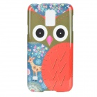 Cute Owl Pattern Protective Kunststoff zurück Fall für Samsung Galaxy S5 - White + Red + Multi-Color