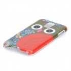 Cute Owl Pattern Protective Plastic Back Case for Samsung Galaxy S5 - White + Red + Multi-Color