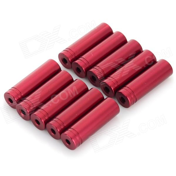 WC-08 4.2MM Aluminum Alloy Drivetrain Socket Cover Sleeve - Red (10 PCS)