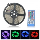 JRLED 72W 4300lm 300-SMD 5050 LED RGB Light Strip w/ 40-Key Controller - White + Black (DC 12V / 5M)