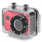 KM-07-2602 Diving Sports 5.0MP CMOS 100' Wide Angle Camera - Black + Red
