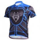 TOPCYCLING Men's Comfy Short-sleeve Polyester Jersey Top for Cycling - Blue + Black (XXL)