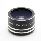 Universal Magnetic Fish Eye Lens for IPHONE / IPOD / IPAD - Black