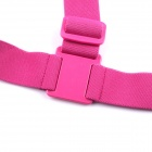 Ombro PANNOVO G-578R Belt Chest Strap Mount para GoPro Hero 4/2/3/3 + / SJ4000 - Deep Pink