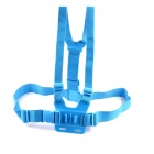 PANNOVO G-578B Adjustable Elastic Chest Strap Mount for GoPro Hero2 / Hero3 / 3+ / SJ4000 - Blue