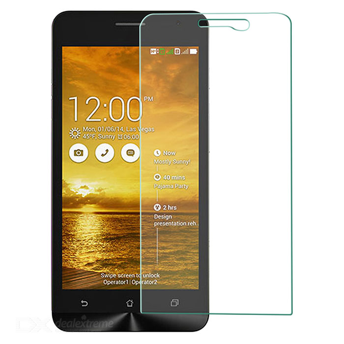 Tempered Glass Screen Protector for Asus zenfone5 - Transparent original tempered glass screen protector for landvo s6 smartphone transparent