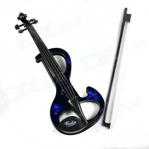 Elegant Violin Musical Toy with Built-in Songs for Kids / Children - Black + Blue (2 x AA) otamatone toy music instruments for kids with 8 built in songs