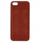 High Quality PU Leather + PC Wallet Style Flip Open Case w/ Card Slots for IPHONE 5 / 5S - Red