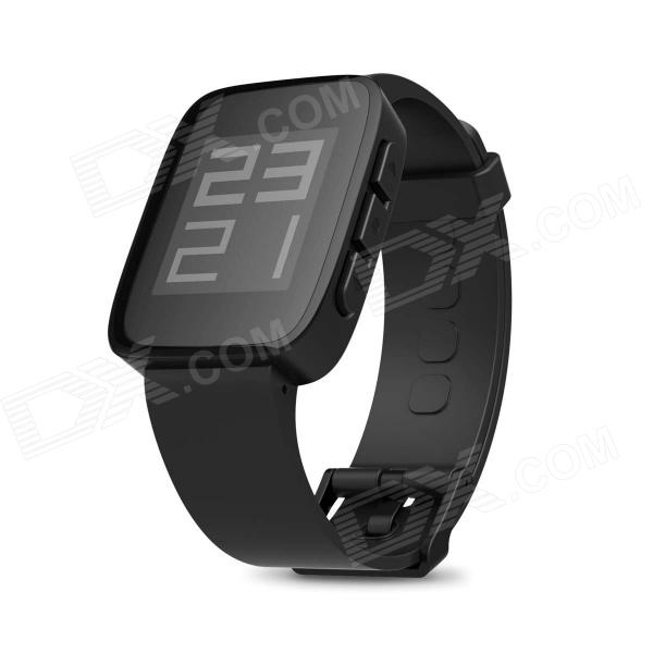Weloop Tommy 1.26 LCD Smart Watch w/ Bluetooth 4.0 / Support Message Display - Black 2017 new gift with uv lamp remote control lcd display automatic vacuum cleaner iclebo arte and smart camera baby pet monitor