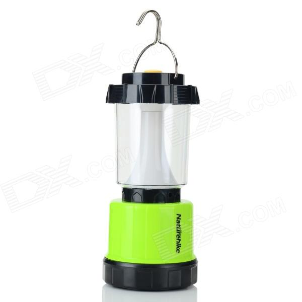 Naturehike Rechargeable 240lm 3-Mode 12-LED White Camping Lantern Lamp - Green + Black (3 x AA)