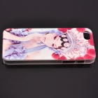 Peking Opera Beauty Actress Pattern PC Protective Back Case for IPHONE 5 / 5S - Blue + Red