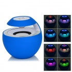 BTS-16 Bluetooth V3.0 Car Speaker w/ 3.5mm Jack / Microphone / Micro USB - Blue