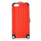 Miak Suitcase Style Protective PC + TPU Case w/ Stickers + NFC for IPHONE 5 / 5S - Red + Black