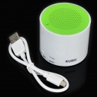 KUBEI 300A Portable Wireless Bluetooth V3.0 Speaker w/ Micro USB - White + Green