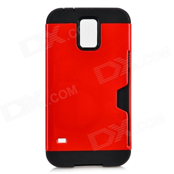 Protective TPU + PC Case for Samsung Galaxy S5 - Red + Black sunshine sports velcro protective arm bag for samsung galaxy s5 i9600 red black