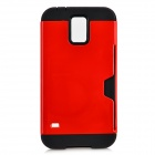 Protective TPU + PC Case for Samsung Galaxy S5 - Red + Black