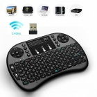 Rii 2.4RT-MWK08+ GHz Wireless 92-Key Keyboard Air Mouse w/ Multi-Point Control - Black