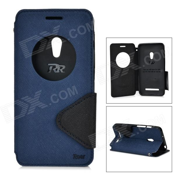 ROAR Protective TPU + PU Case for Asus Zenfone 5 - Deep Grey + Black