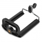 Universal Adjustable Plastic Mobile Phone Mount Holder for IPHONE / HTC / Samsung - Black