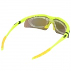 OBAOLAY SP0875 PC Frame Resin Lens UV400 Protection Sports Cycling Sunglasses Goggles - Yellow