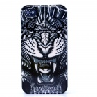 Tiger Pattern Protective Plastic Back Case for IPHONE 4 / 4S - Black + Multi-Color