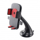 Universal Car Mount Holder w / ventosa / autoblocante para iPhone / Samsung / GPS / MP4 - Preto