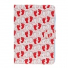 Cute Feet Pattern Protective PU Leather Flip Open Case w/ Stand for IPAD MINI / RETINA IPAD MINI