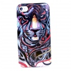 Fierce Tiger Pattern Protective Plastic Back Case for IPHONE 4 / 4S - Multi-Color
