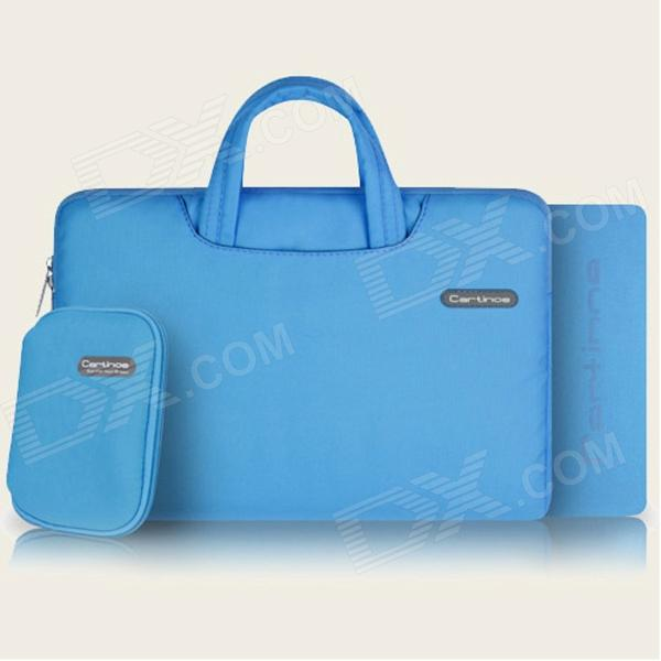 "Cartinoe portátil bolso / bolsa bolso monedero + Mousepad para Apple MacBook Pro 15,4""- azul"