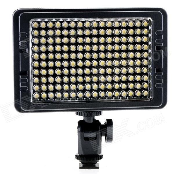 NEW C-160S Portable 160-LED Beads 3200K/5500K High Brightness LED Video Light - Black