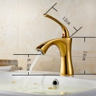 YDL-F-0575 Centerset Single Handle Rose Gold Finish Brass Bathroom Sink Faucet - Golden