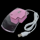 Cute Crystal Avant-Garde USB 2.0 Wired Optical Mouse - Transparent + Pink