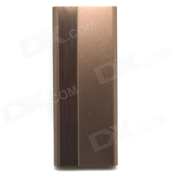 J-009 Universal Portable 3000mAh 5V Li-Polymer Battery Power Bank - Brown