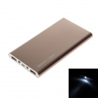 REDWAY PBS002-080 Ultra-thin 8000mAh Dual USB Li-polymer External Power Bank w/ LED Light - Gold