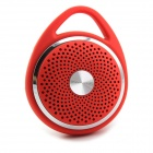 SANSUI E31 Portable Bluetooth V2.0 1.0-CH Handsfree Mini Speaker w/ TF / Microphone - Red