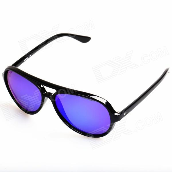 OREKA Retro Style Cellulose Acetate Frame Resin Lens UV400 Protection Sunglasses - Black oreka children s cool cellulose acetate frame blue revo lens uv400 sunglasses brown blue