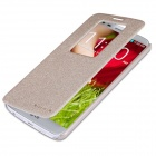 Nillkin Protective Flip Open PU Leather Case w/ Display Window for LG Optimus G2 - Golden