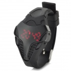 Fashionable Rubber Band Digital LED Wrist Watch - Black (1 x CR2032)