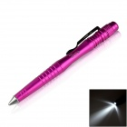 OUMILY Aircraft-Grade Aluminum Alloy Tactical Defense Writing Pen w/ White LED Light - Rose Red