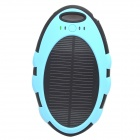 ODEM 5000mAh Dustproof Shockproof Waterproof Li-polymer Battery Solar Charger External Bank - Blue