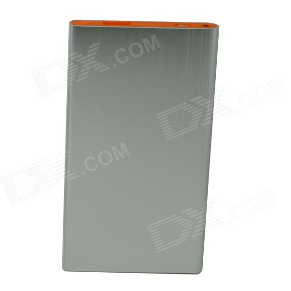 "Ultrathin Portable ""5000mAh"" Mobile Li-polymer Battery Power Bank - Silver"