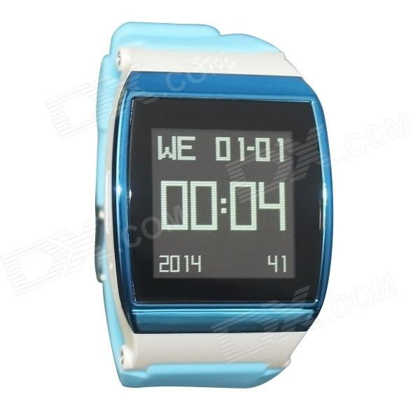 Hi Watch GSM Watch Phone w/ 1.55 Screen, Quad-band, Bluetooth V3.0 and Radio - Blue + White kiccy a6 gsm watch phone w 1 54 screen bluetooth quad band and bluetooth blue silver