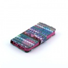 Strip Pattern Flip-open PU Leather Case w/ Stand + Card Slot for IPHONE 4 / 4S