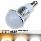 CXHEXIN S14A-3+3 E14 6W 360lm 12-SMD 5630 LED Variable Light Bulb - Silver + White (AC 85~265V)